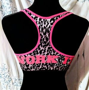 Joe Boxer  Sports bra pink white leopard